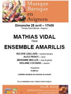 Musique Baroque en Avignon 28 Avril 2019