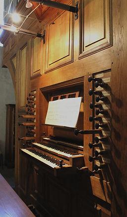 les claviers de l'orgue
