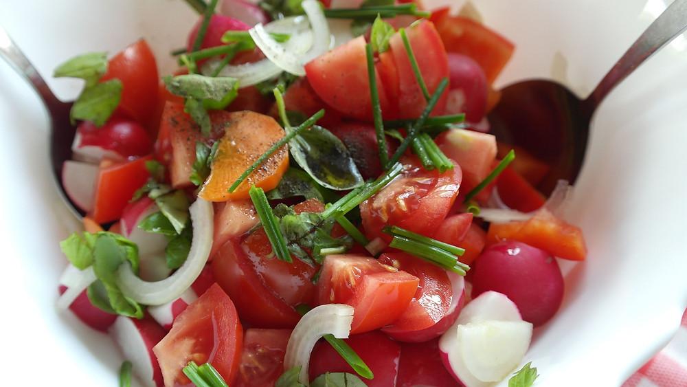 salade radis diététicienne le mans