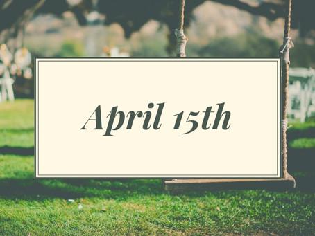 Newsletter April 15th