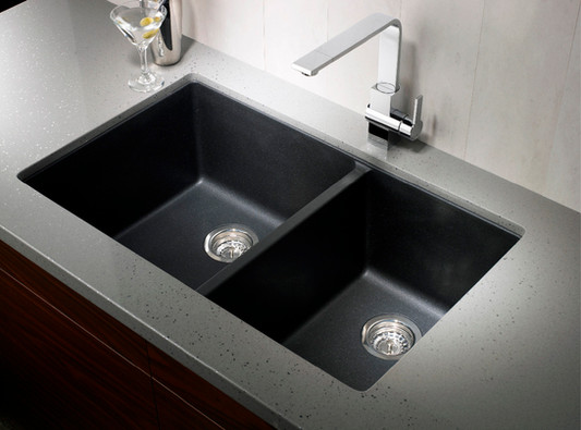 black-blanco-sinks-with-double-bowl-on-g