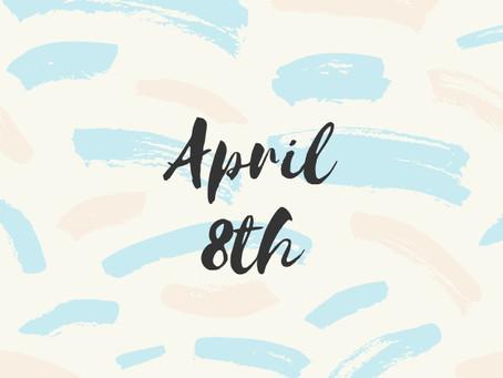 Newsletter April 8th