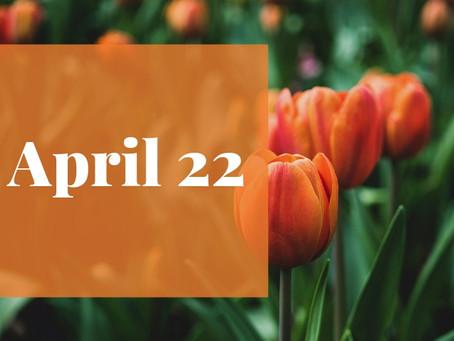 Newsletter April 22nd