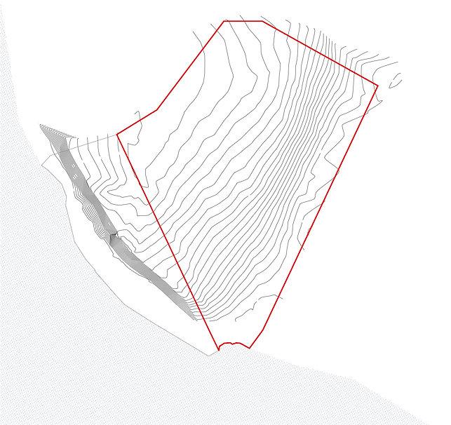 Grundstück-Topographie