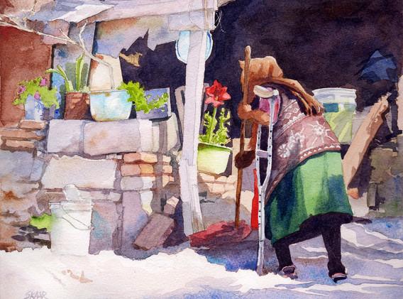 Tending-Her-Garden