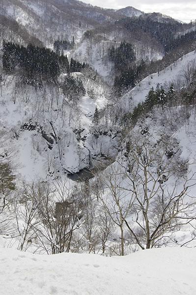 落ち口の滝