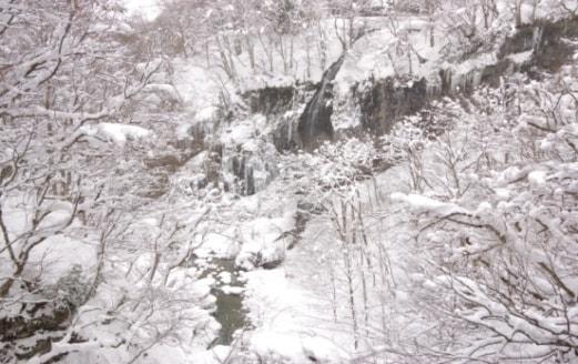 田麦橋から月山ダムへそそぐ梵字川せせらぎ
