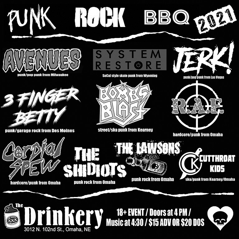 Punk Rock BBQ 2021 at the Dr Jack's Drinkery