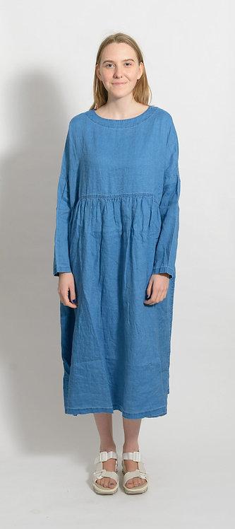 Leinen Dress mit Jeanslook