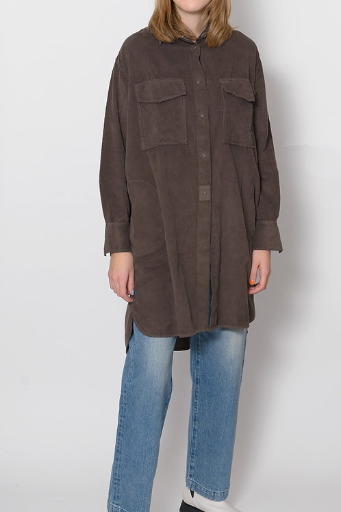 Corduroy Long Jacket