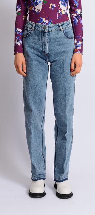 Wide-Leg Acid-Wash Jeans