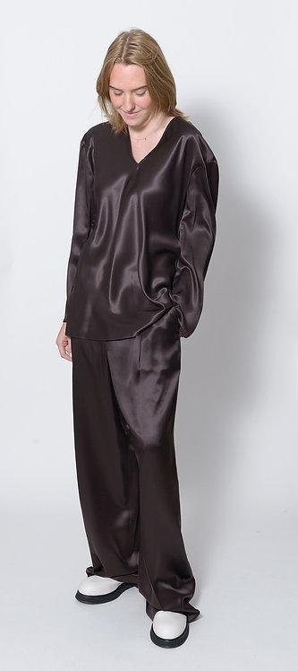 V-Neck Silk Blouse