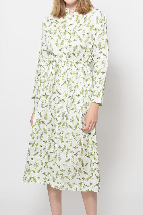 Linen flower dress