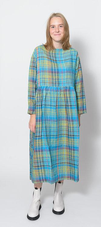Linen Check Dress