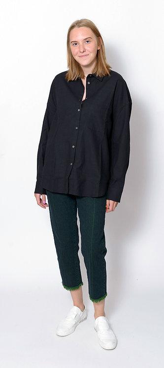 Cotton Shirt In Black