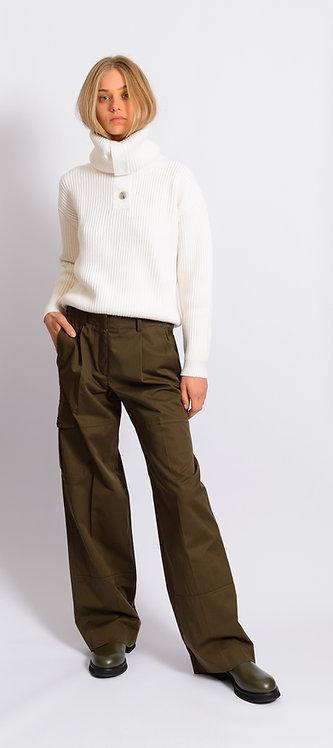 Ribbed-Knit Pullover Jumper
