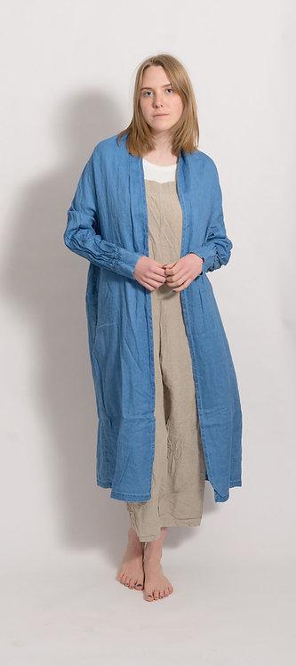 Linen Coat With Jeanslook