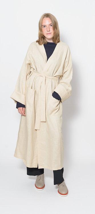 Unisex Belted Linen Robe