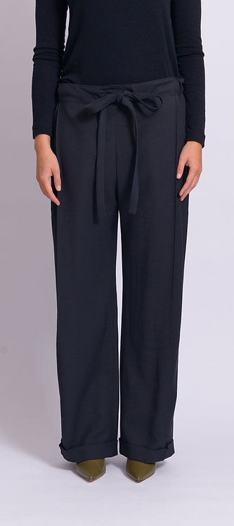 Navy Fold Trousers