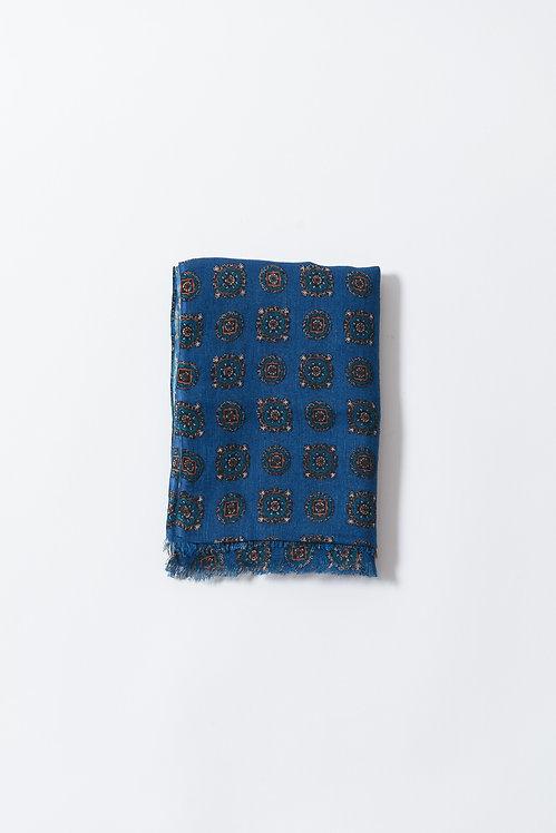 Handmade Firis Blue Scarf