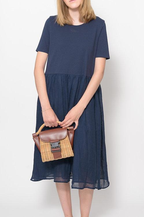 Blue Shirtdress