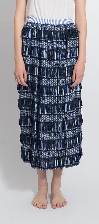 Blue Fringe Skirt