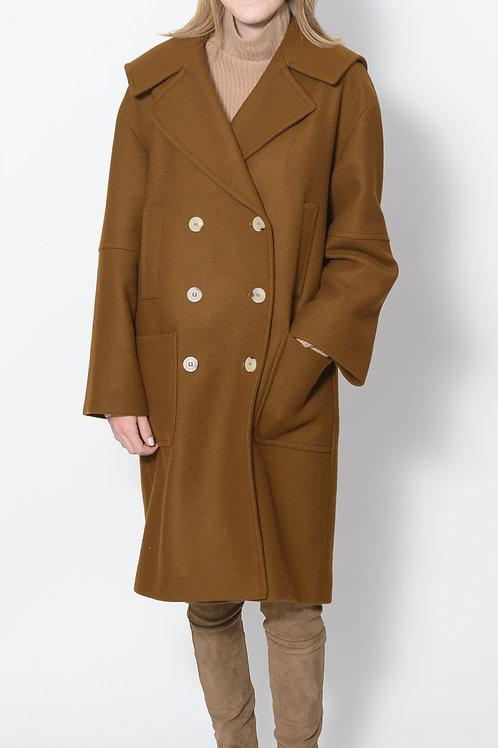 Caramel Hooded  Coat