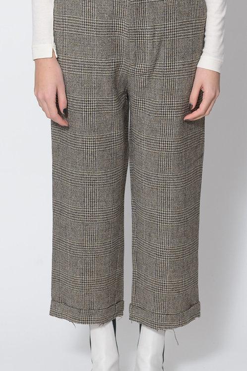 Brown Plaid Pant