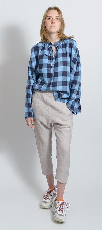 Cropped Slim-Cut Trousers