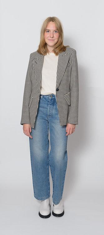 Houndstooth Tailored Blazer