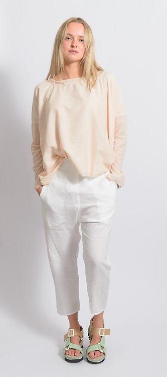 Square Neck Poplin Shirt