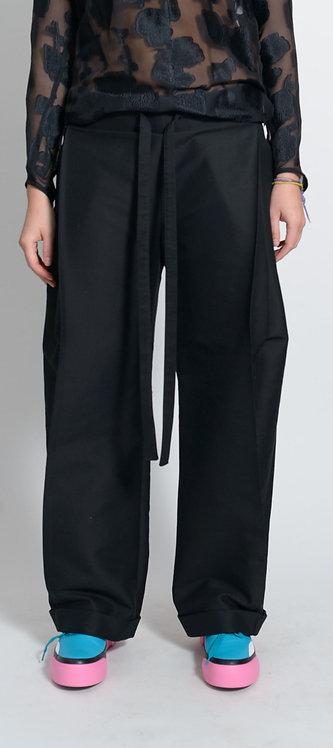 Black Fold Trousers