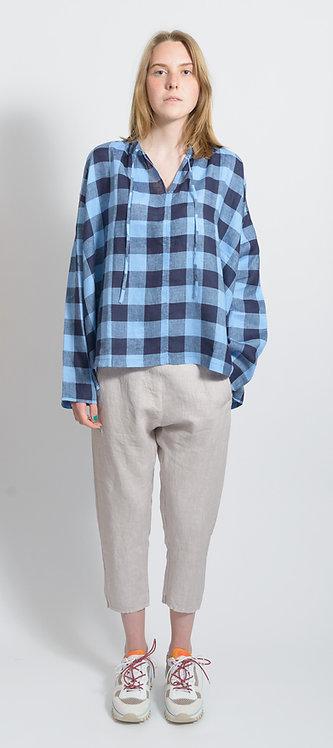 Shirt In Blue Plaid