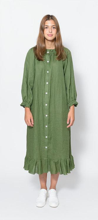 copy of Ruffled-Hem Midi Dress