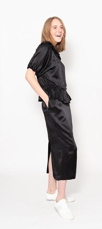 Cut-Out Ruffle Detail Skirt
