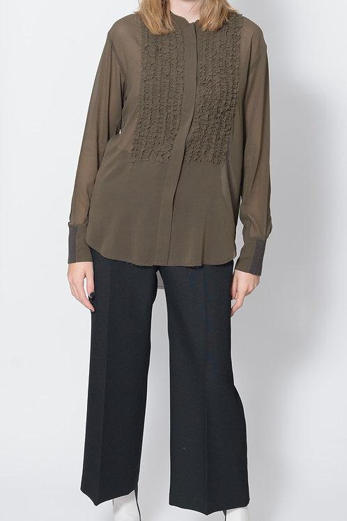 Silk Ruffle Shirt