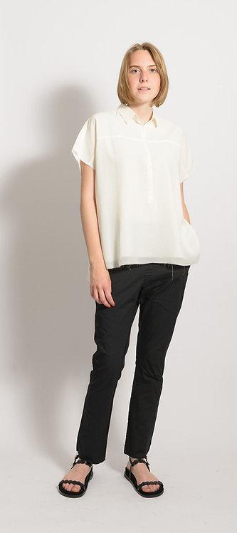 Short-Sleeved Silk-Blend Shirt