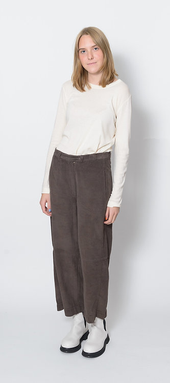 Corduroy Straight-Leg Trousers