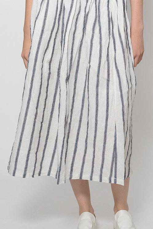 Linen stripe skirt