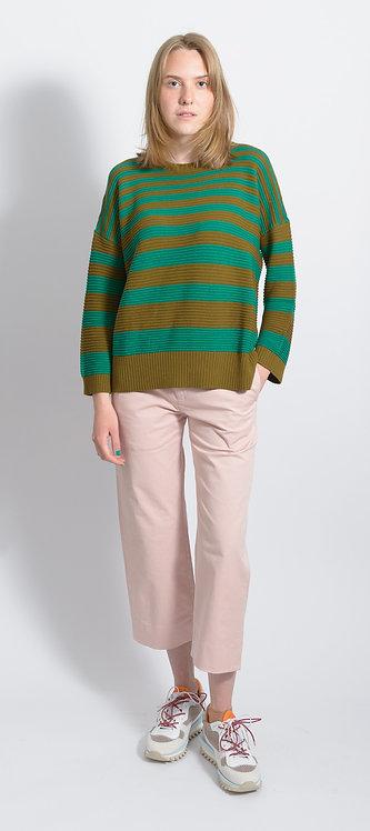 Striped Cotton Pullover