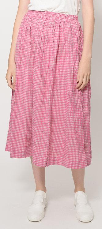 Linen squared skirt