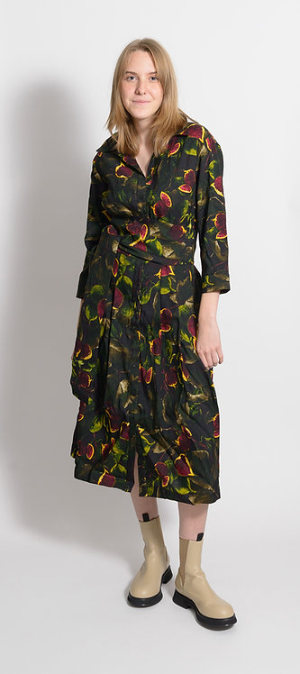 Fruit Print Shirt Dress