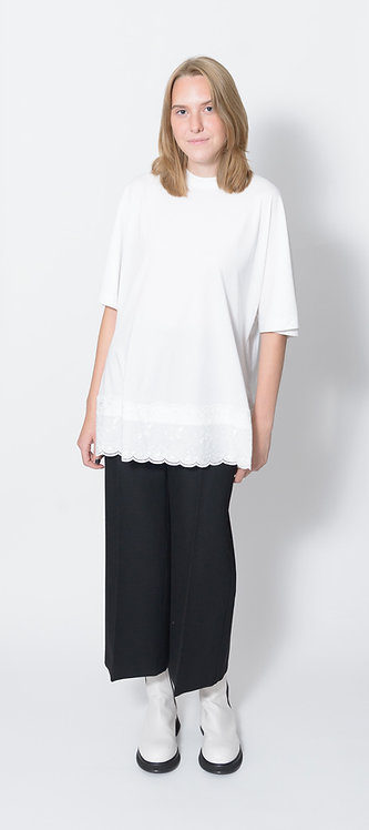 Broderie Anglaise Detail T-shirt