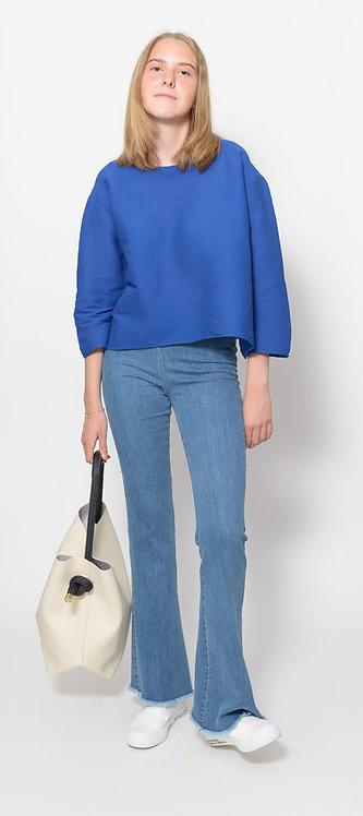 Blue Three Quarter Sweater