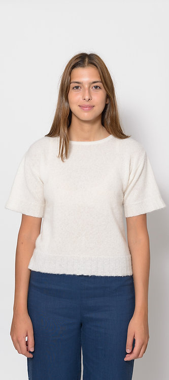 Short Sleeved Knitted Top