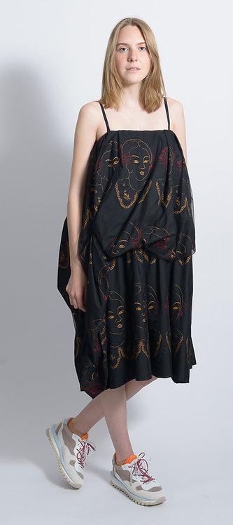 Faces Print Dress