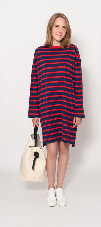 Striped Pique Dress