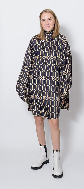 Graphic Chain Print Mini Dress
