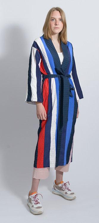 Striped Midi Robe