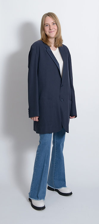 Mid-Length Single-Breasted Blazer
